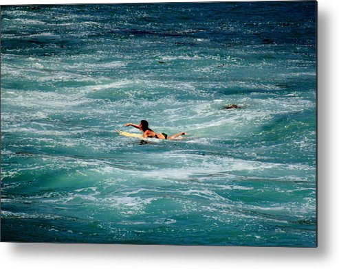 Wave Metal Print featuring the photograph Lookin For The Right One by Kreddible Trout