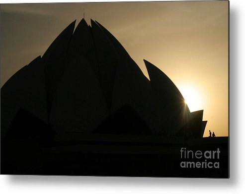Lotus Temple Metal Print featuring the photograph Lotus Temple In New Delhi by Angie Bechanan