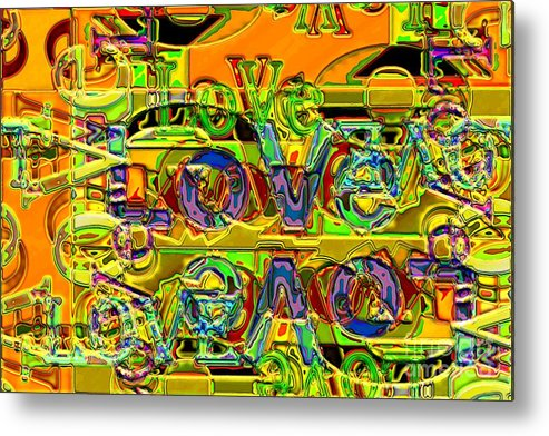 Abstract Metal Print featuring the digital art Love Contest by Ron Bissett