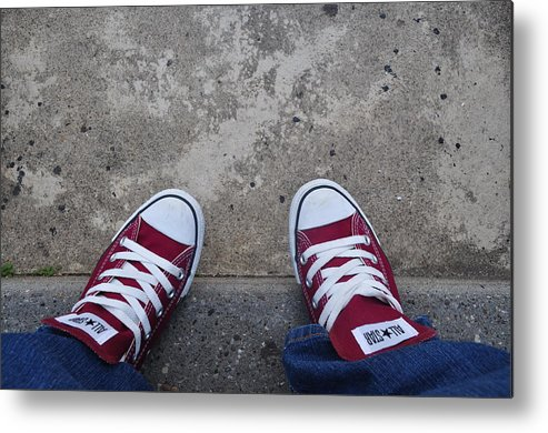 Love Metal Print featuring the photograph Love My Converse by Brynn Ditsche