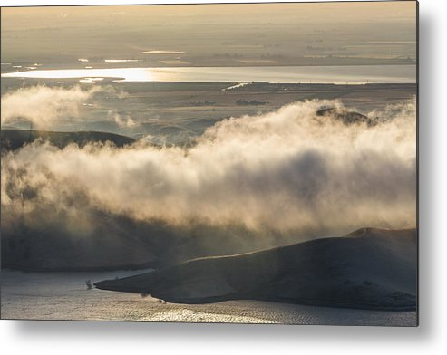 Landscape Metal Print featuring the photograph Low Hanging Clouds by Marc Crumpler