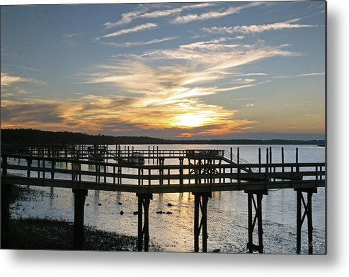 Sunset Metal Print featuring the photograph Low Tide by Phill Doherty