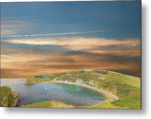 Lulworth Cove Metal Print featuring the photograph Lulworth Cove by Roy Pedersen