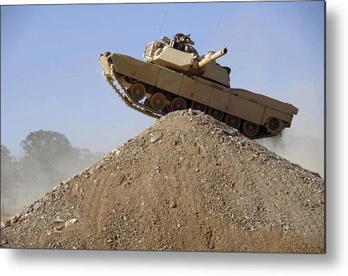 M1 Abrams Metal Print featuring the digital art M1 Abrams by Dorothy Binder