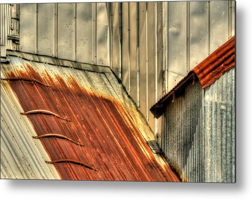 1996 Metal Print featuring the photograph Madsen Grain Roof by Jerry Sodorff