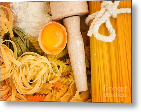 Pasta Metal Print featuring the photograph Making Pasta by Anastasy Yarmolovich
