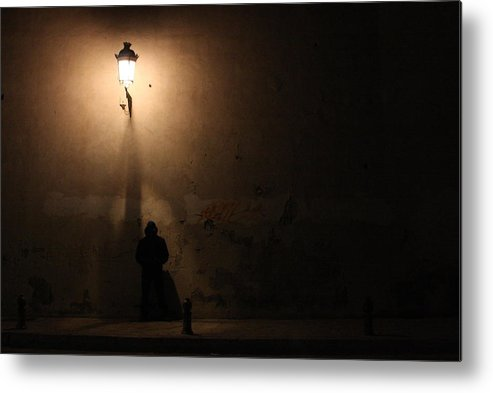 Man Metal Print featuring the digital art Man Stands Alone by Jason Hochman