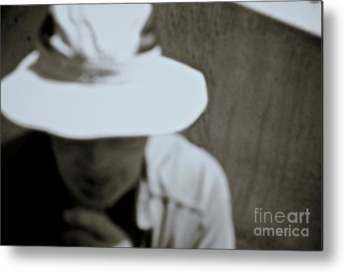 Hat Metal Print featuring the photograph Man With A Hat by Stanton Tubb