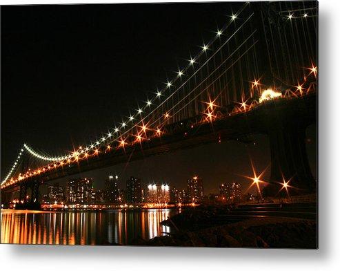 New York City Metal Print featuring the photograph Manhattan Bridge by Jason Hochman