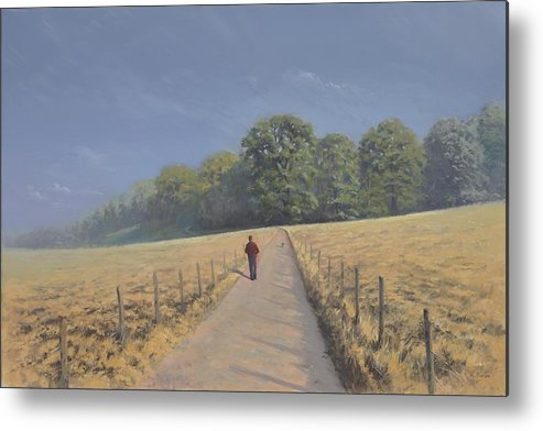 Landscape Metal Print featuring the painting Mapledurham by Richard Picton