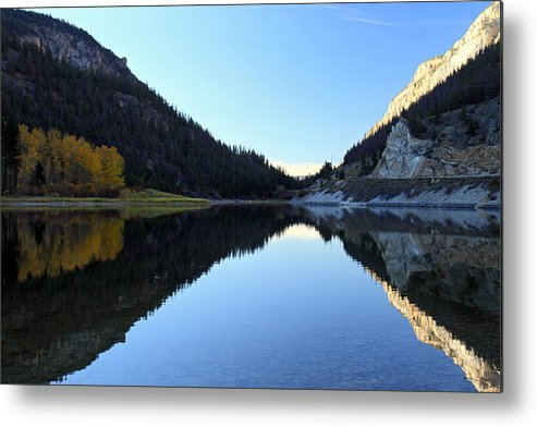 Marble Metal Print featuring the photograph Marble Canyon Lake Reflection by Pierre Leclerc Photography