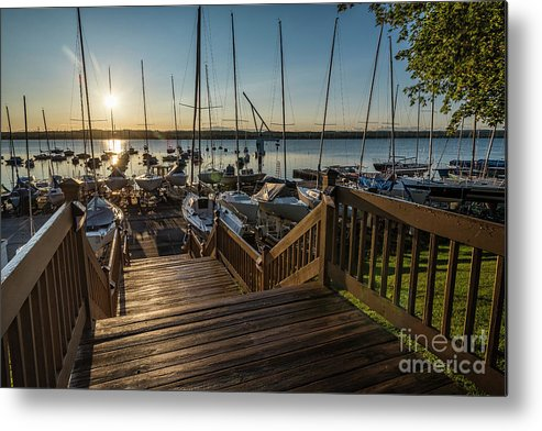 Sailing Metal Print featuring the photograph Marina Sunrise by Joann Long