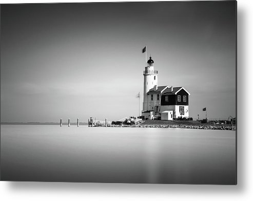 Marken Metal Print featuring the photograph Marken Lighthouse by Ivo Kerssemakers