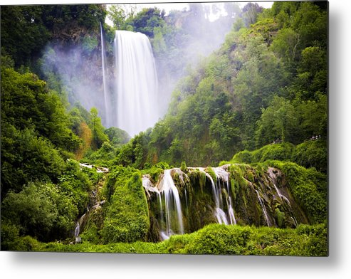 Italy Metal Print featuring the photograph Marmore Waterfalls Italy by Marilyn Hunt