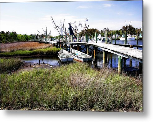 Photo Metal Print featuring the photograph Marsh Harbor 2 by Alan Hausenflock