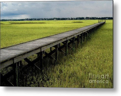 Marsh Metal Print featuring the photograph Marshland Boardwalk by Neil Doren