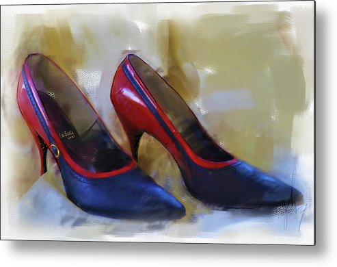 Fashion Metal Print featuring the digital art Mary's Mid-century Moderne Collection No. 2 by Gina Harrison