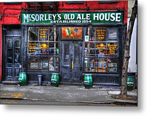 Mcsorley's Old Ale House Metal Print featuring the photograph Mcsorley's In Color by Randy Aveille