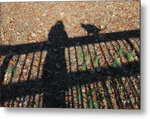 Shadow Metal Print featuring the photograph Me And My Shadow by Ali Baucom