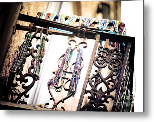 Architecture Metal Print featuring the photograph Memories Of Mardi Gras by Irene Abdou
