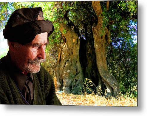 Old Man Metal Print featuring the photograph Memories Of Time by Manolis Tsantakis