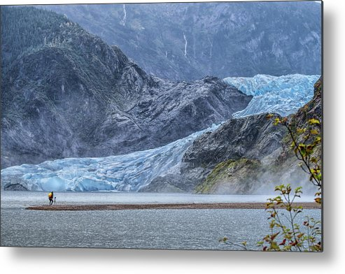 Glaciers Metal Print featuring the photograph Mendenhall Glacier by Debbie Ann Powell