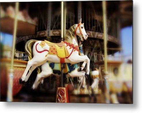 Carnival Metal Print featuring the photograph Merry Go Round by Han Van Vonno