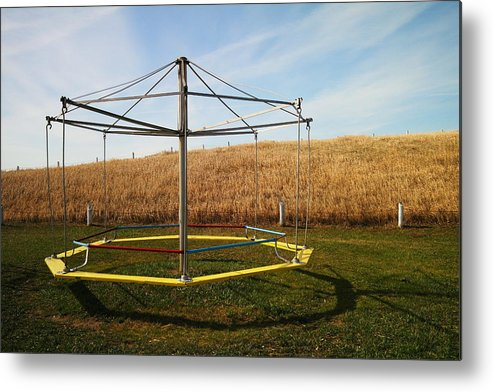 Playground Metal Print featuring the photograph Merry Go Round On The Prairie by Jeff Swan