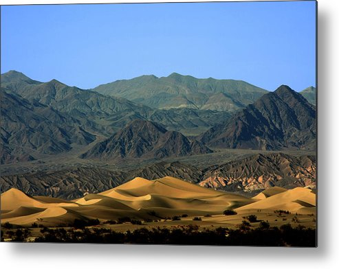 Death Valley National Park Metal Print featuring the photograph Mesquite Flat Sand Dunes - Death Valley National Park Ca Usa by Christine Till