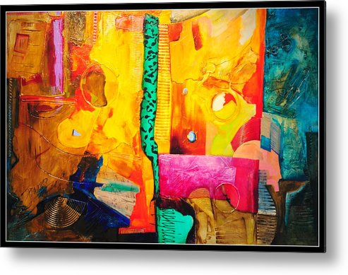 Abstract Metal Print featuring the painting Metaphysical Discurs by Jacek Ungierat - Jung