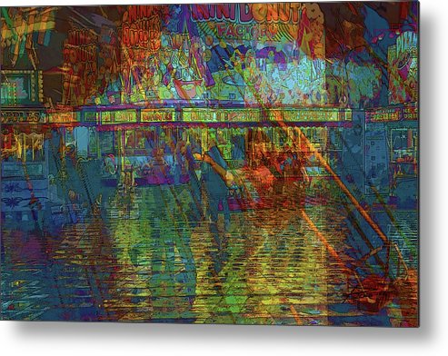 Fair Metal Print featuring the photograph Midway Tapestry by Barbara White
