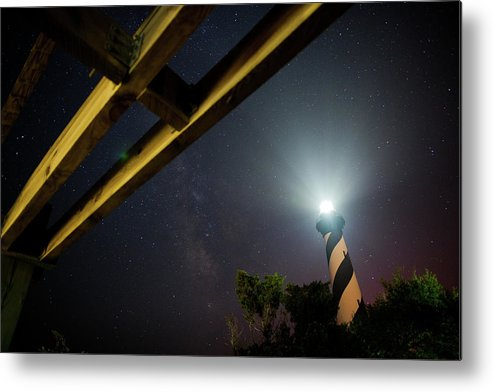 Hatteras Metal Print featuring the photograph Milky Way Inside Hatteras Light Pavillon by Daniel Lowe