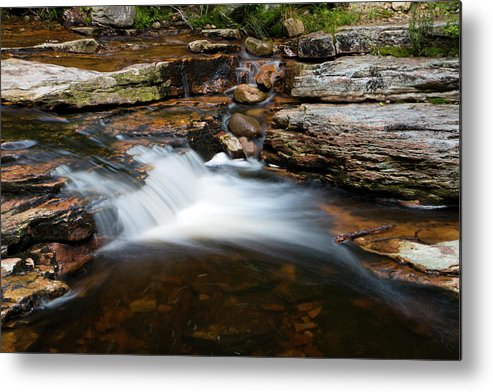 Waterfall Metal Print featuring the photograph Mini Falls On The Peterskill I by Jeff Severson