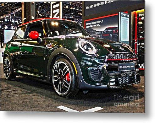 Auto Metal Print featuring the photograph Mini John Cooper Works by Alan Look
