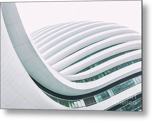 Futuristic Metal Print featuring the photograph Modern Architecture by Marcus Lindstrom