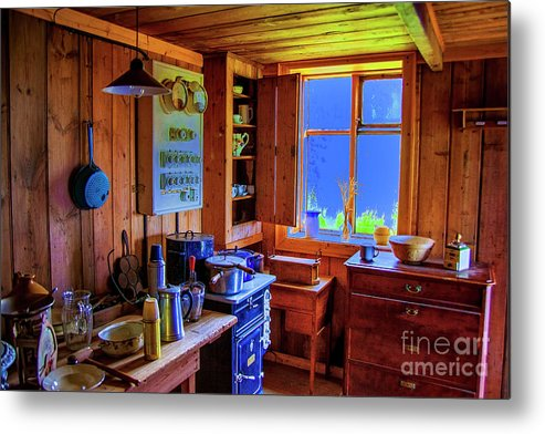 Iceland Interiors Kitchens Turf Farms Metal Print featuring the photograph Modern Kitchen Iceland by Rick Bragan