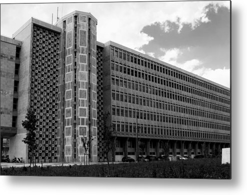 Lisbon Metal Print featuring the photograph Modern Lisbon - The Palace Of Justice by Lorraine Devon Wilke