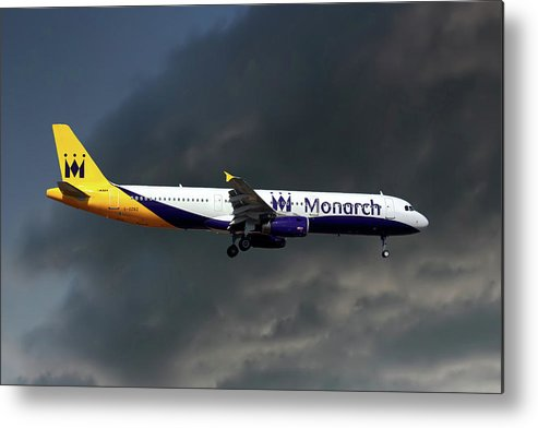 Monarch Airlines Metal Print featuring the photograph Monarch Airlines Airbus A321-231 by Smart Aviation