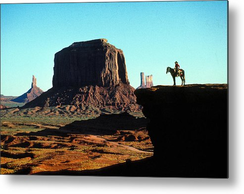 Man Metal Print featuring the photograph Monument Valley by Carl Purcell