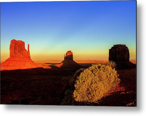 Monument Valley Metal Print featuring the photograph Monument Valley Evening by Andrew Soundarajan