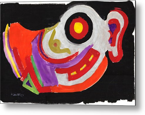 Abstract Metal Print featuring the painting Moody Art Student by Kevin L Brooks
