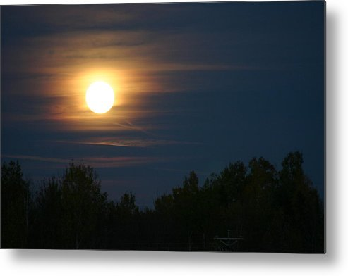 Moon Metal Print featuring the photograph Moon Glow by Kevin Dunham