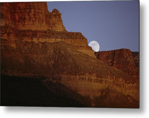 Grand Canyon Metal Print featuring the photograph Moonrise Over The Grand Canyon by Michael Nichols