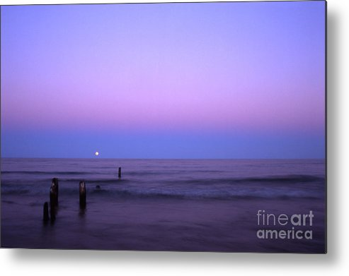 Moon Metal Print featuring the photograph Moonrise by Timothy Johnson