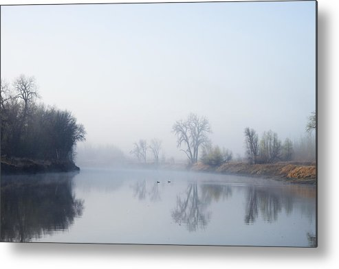 River Metal Print featuring the photograph Morning On Red River by Donald Erickson