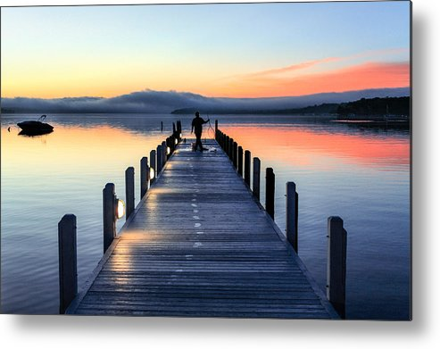 Beautiful Metal Print featuring the photograph Morning Pier by Todd Klassy