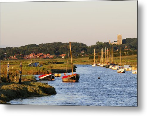 England Metal Print featuring the photograph Morston Creek by Liz Pinchen