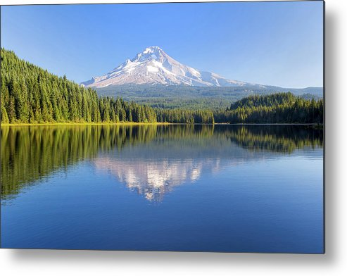 Mount Hood Metal Print featuring the photograph Mount Hood On A Sunny Day by David Gn