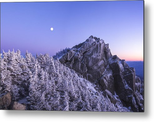 Full Moon Metal Print featuring the photograph Mount Liberty Blue Hour by Chris Whiton