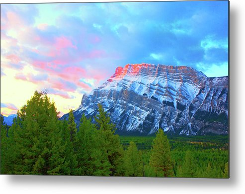 Maontain Metal Print featuring the photograph Mountain At Dawn by Paul Kloschinsky